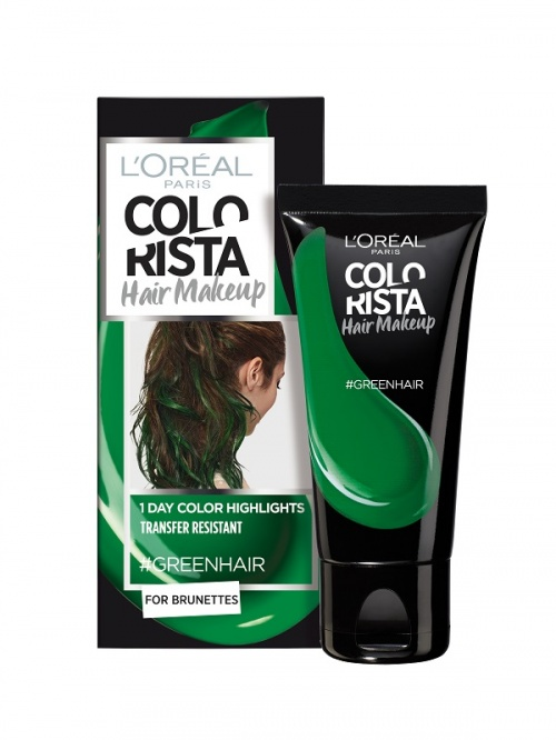 L'Oréal Paris - Colorista Hair Makeup - #GreenHair
