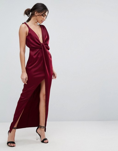 ASOS - Robe longue drapée