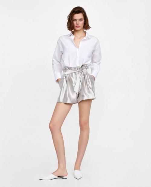 Zara - Short argenté