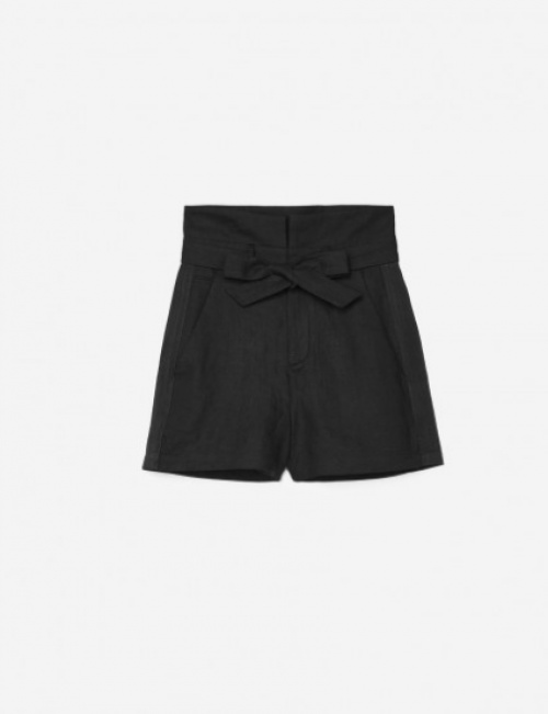 The Kooples - Short en lin détail gros grain