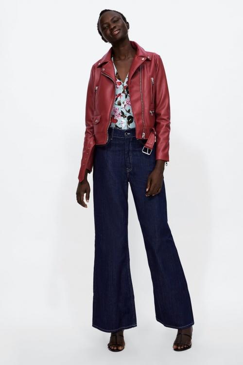 Zara - Veste à Zips Effet Cuir