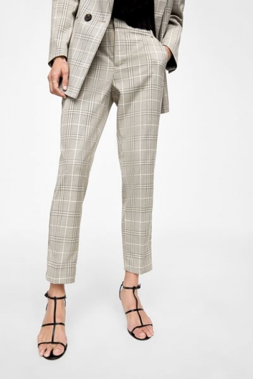 Zara - Pantalon Cigarette à Carreaux