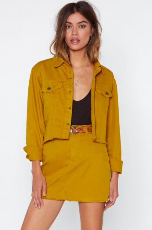 Nasty Gal - Come Together Denim Jacket and Skirt Set
