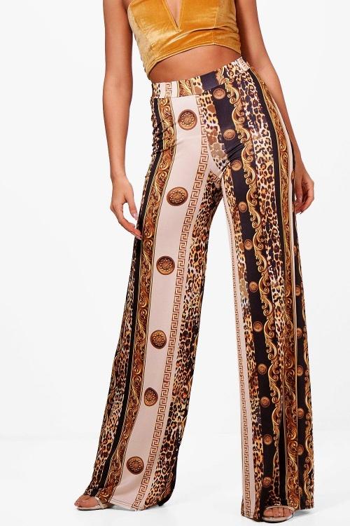 Boohoo - Pantalon motifs foulard
