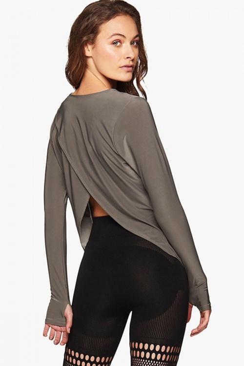 Onzie - T-shirt à manches longues dos en pétales