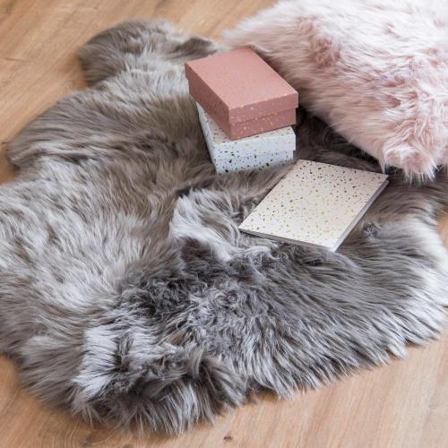 Maisons du monde - Tapis imitation fourrure gris 60x90