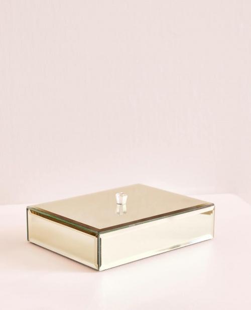 Zara Home - Boîte miroir dorée