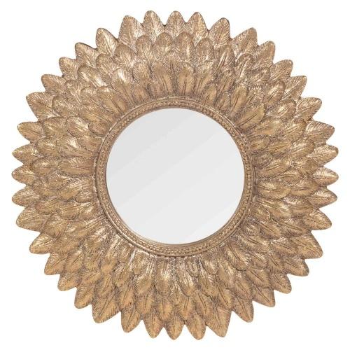 Maisons du monde - MONTAUK - Miroir rond doré H 22 cm