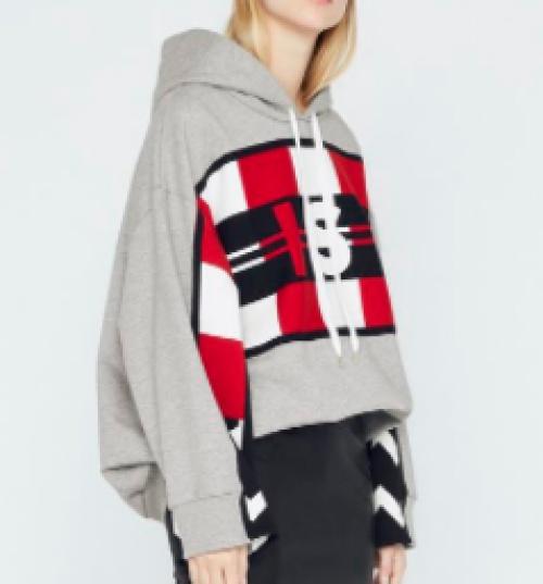 Stella McCartney - Sweat-shirt à capuche All Is Love effet patchwork