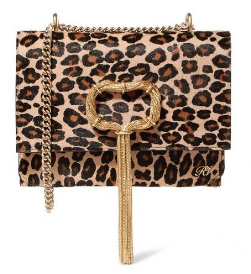 Roger Vivier - Sac porté épaule en façon poulain à imprimé léopard et à ornements