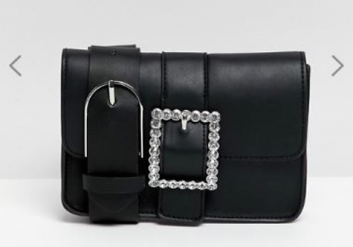 Bershka - Sac ceinture orné avec boucle