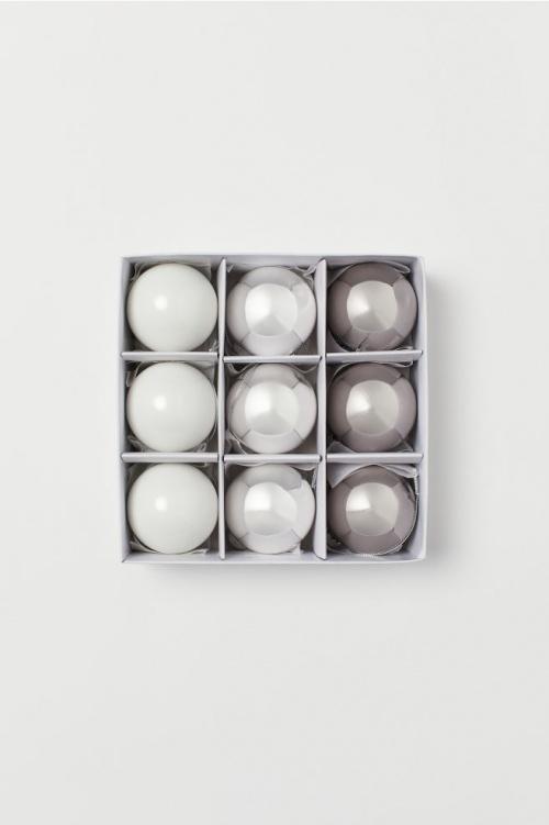 H&M Home - Lot de 9 boules de Noël