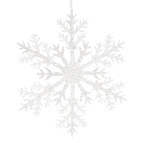 Maisons du Monde - Suspension de Noël flocon de neige argenté