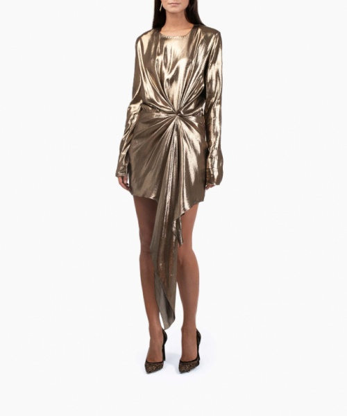 Saint - Laurent - Robe Gold