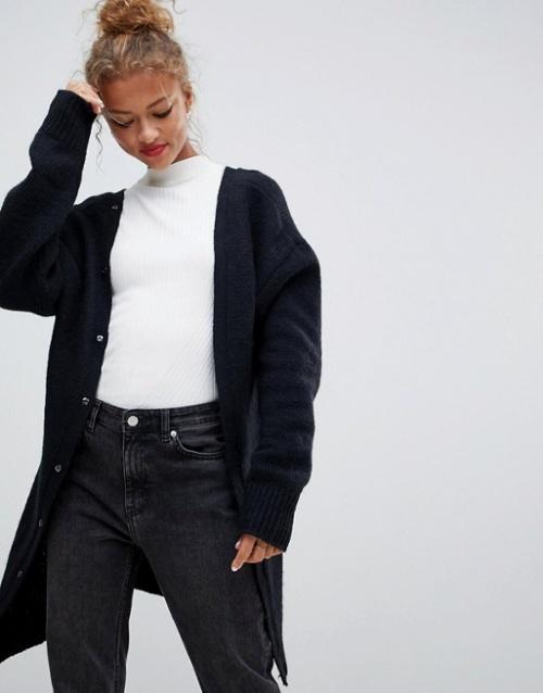 Cheap Monday - Cardigan en polyester recyclé avec décolleté en V au dos