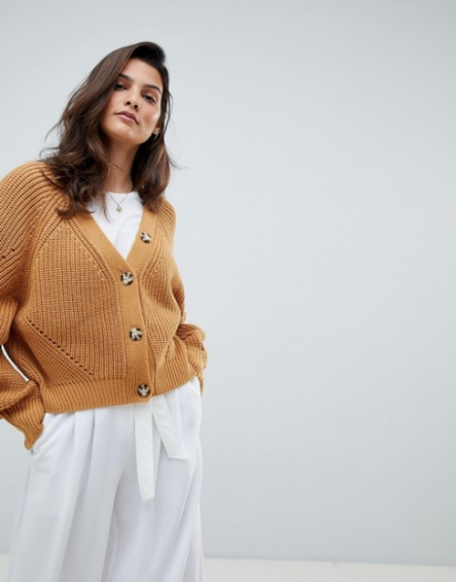 Micha Lounge - Cardigan oversize à boutons contrastants
