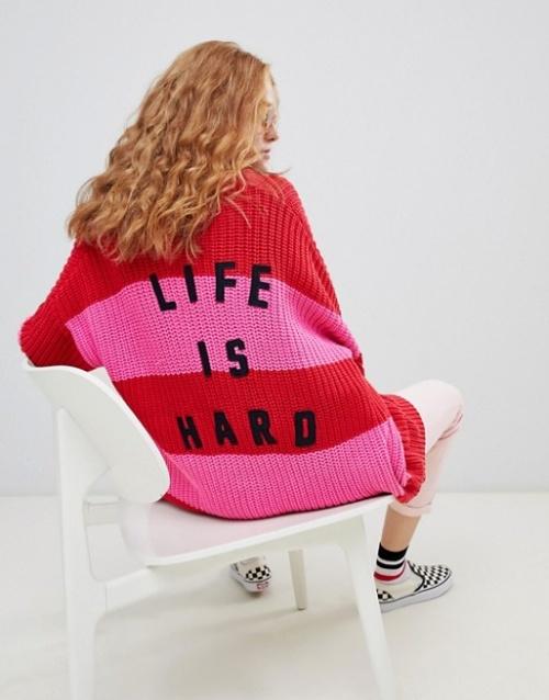 Lazy Oaf - Life is hard - Cardigan