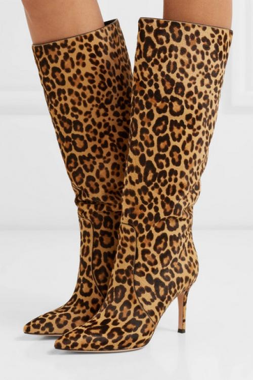 Gianvito Rossi - Bottes en façon poulain à imprimé léopard 85