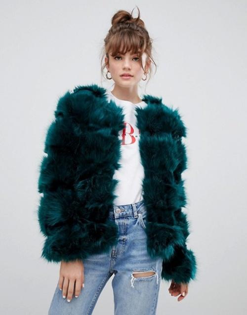 New Look - Manteau en fausse fourrure