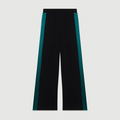 Maje Paris- Pantalon large bicolore