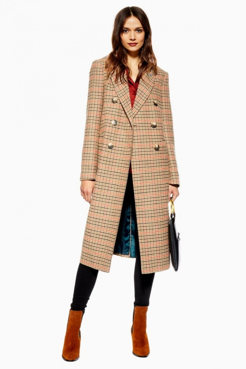 Topshop - Manteau à carreaux
