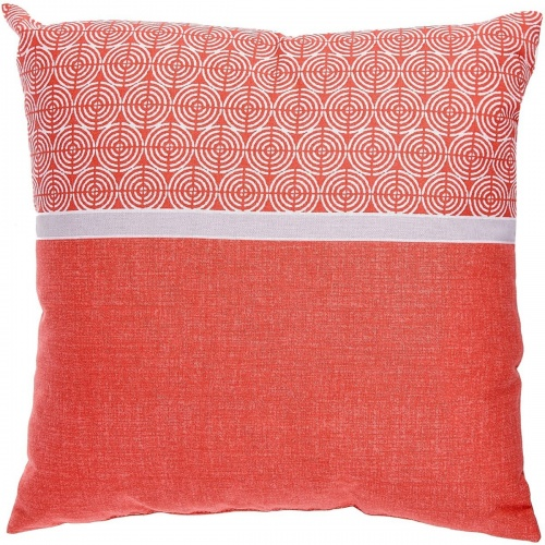 ACTUEL-  Coussin SMART CIRCLE corail