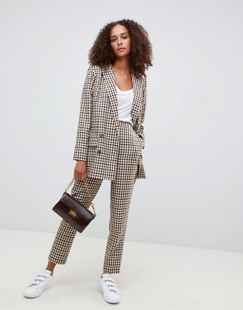Asos- Pantalon slim à carreaux