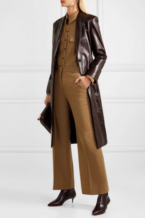 Theory - Manteau en cuir texturé