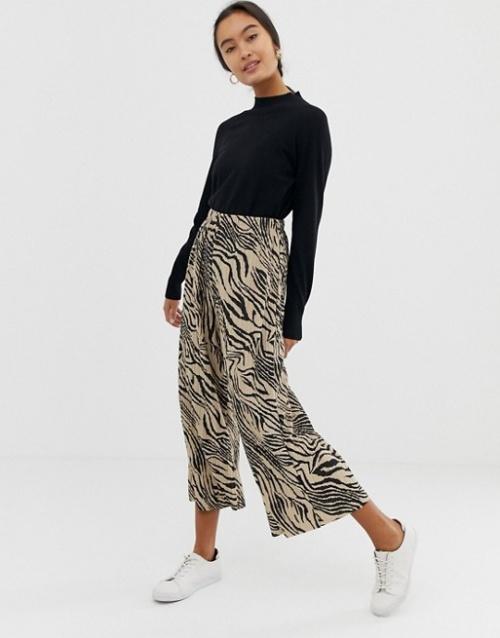Asos - Jupe-culotte imprimée zèbre