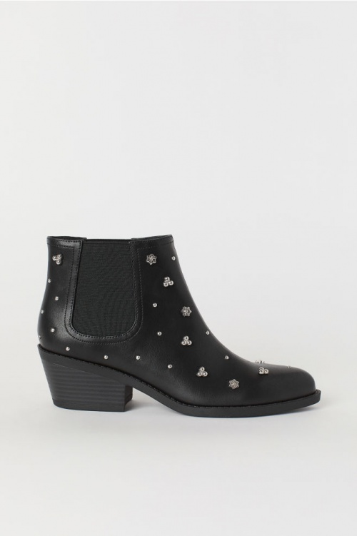H&M- Bottines imitation cuir