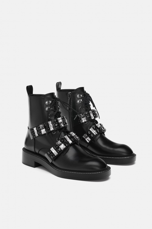Zara- Bottines en cuir