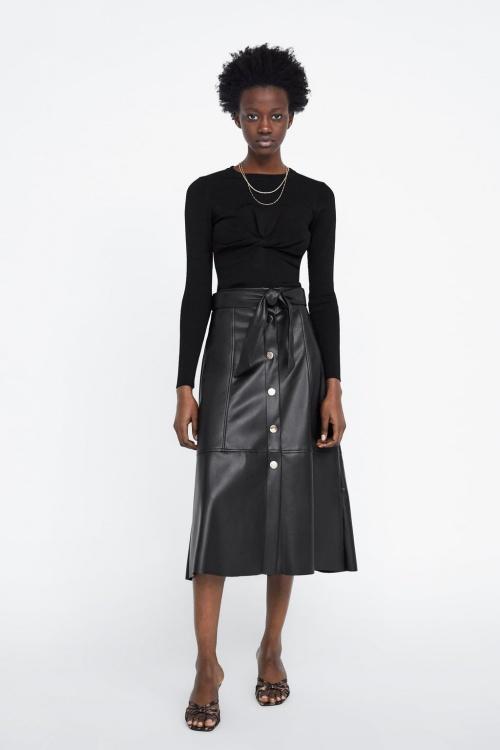 Zara - Jupe en similicuir