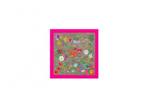 Gucci - Foulard GG Flora en soie imprimée