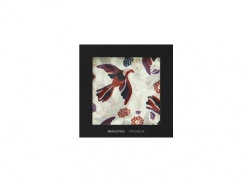 Monoprix - Foulard en Soie Imprimé Oiseaux