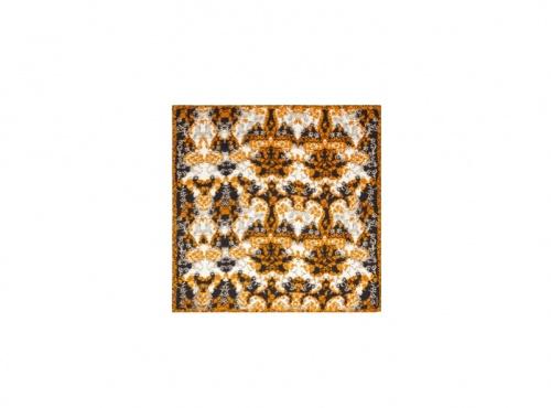 The Kooples - Carré en soie à imprimé motif baroque fantaisie