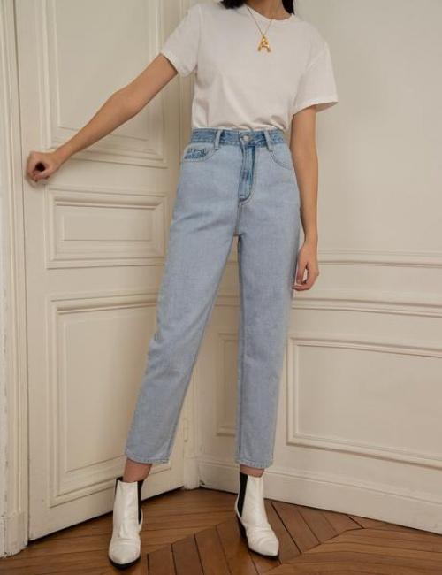 Pixie Market - Jean contrastant