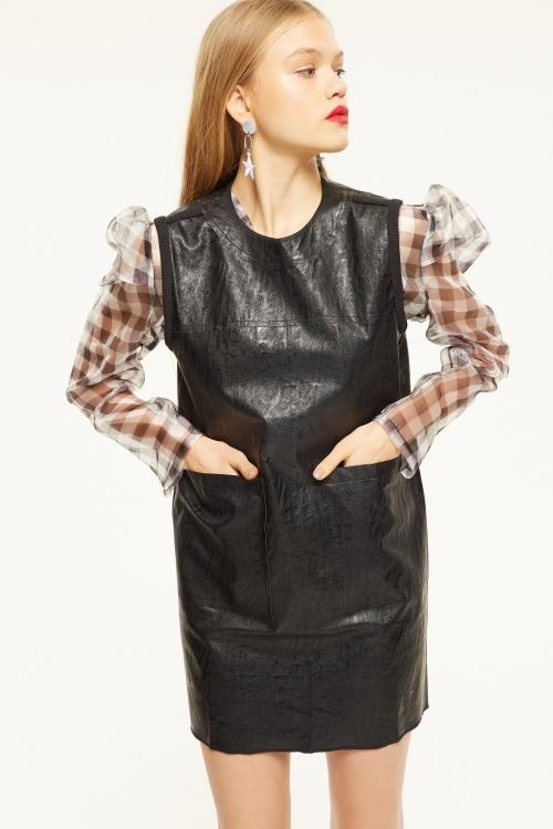 Cubic - Robe en cuir