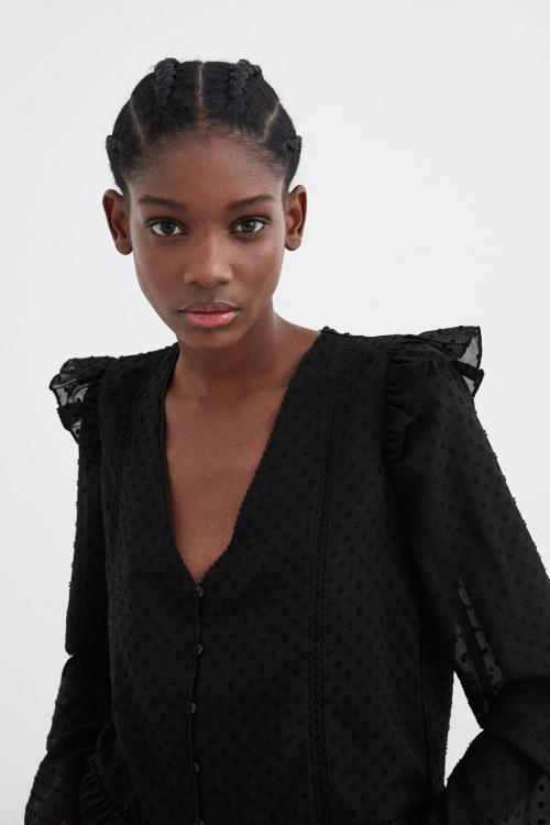 Zara - Chemise avec plumetis