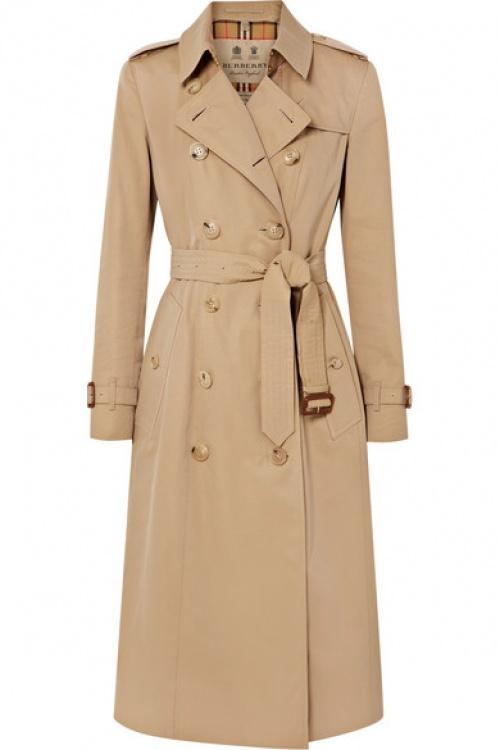 Burberry - Trench-coat en gabardine de coton The Chelsea Long