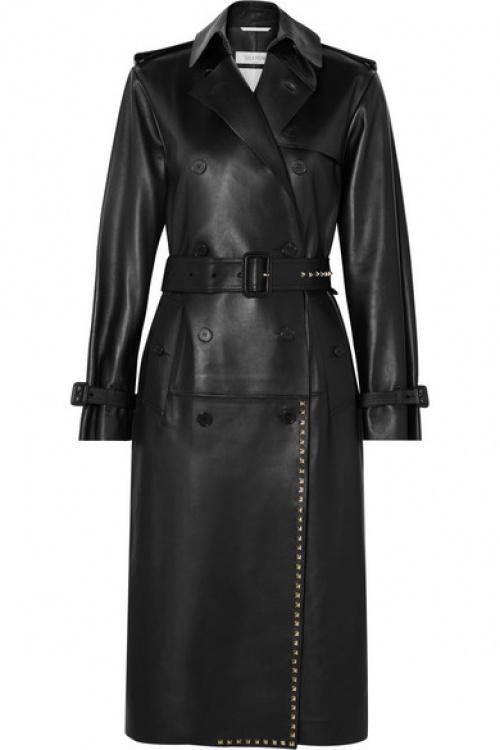 Valentino - Trench-coat en cuir à clous