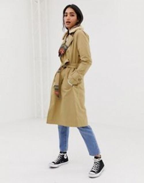 Abercrombie & Fitch - Trench-coat à intérieur pied-de-poule