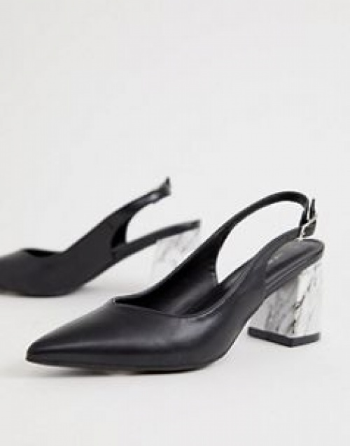 New Look - Chaussures à talons effet marbre avec lanière à l'arrière