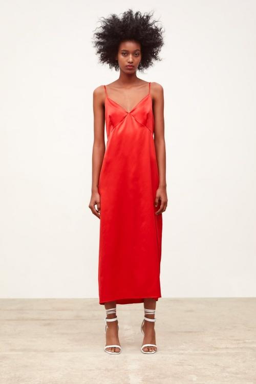 Zara - Robe style lingerie satinée