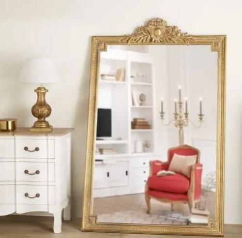 Maisons du monde - VICTOIRE - Miroir à moulures dorées 120x185cm