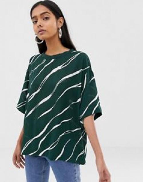 Weekday - Dania - Top en tissu imprimé lisse