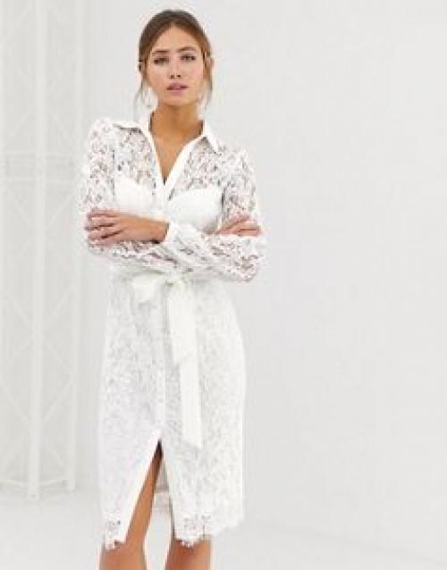 Paper Dolls - Robe chemise en dentelle