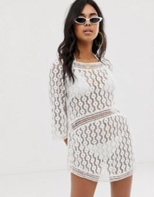 ASOS DESIGN - Robe en dentelle crochetée