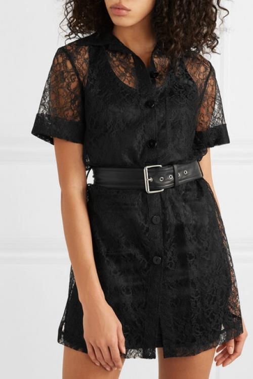 Alexander Wang - Mini-robe en dentelle à ceinture