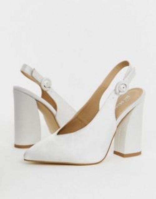 Be Mine - Noori - Chaussures de mariée à talons et bride arrière en satin