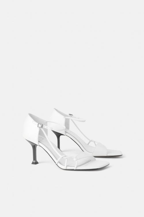 Zara - Sandales à talons géométriques